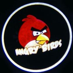 беспроводная подсветка дверей с логотипом angry birds беспроводная подсветка 7w