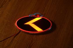 2d светящийся логотип kia sigma 2d логотипы