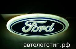 4d светящийся логотип ford 4d логотипы