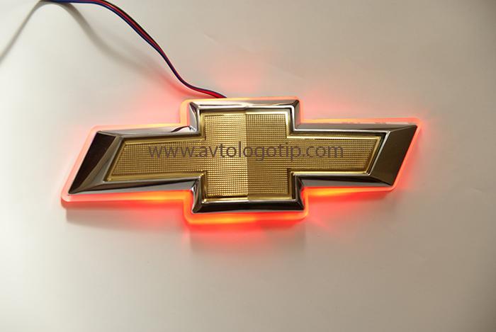 chevrolet lanos логотип 4d подсветка