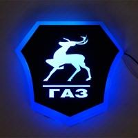 Светящийся логотип ГАЗ (GAZ)