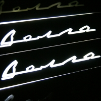 Накладки на пороги с подсветкой Волга зеркало