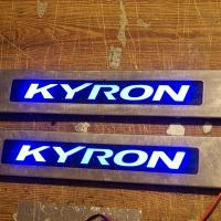 Накладки на пороги с подсветкой SsangYong Kyron ремонт