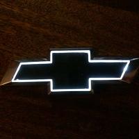 5D светящийся логотип Chevrolet 17*5.5cm