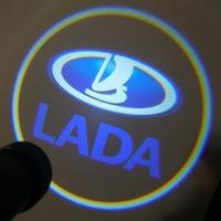 Подсветка дверей с логотипом Lada 7W mini
