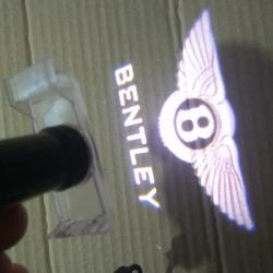 Штатная подсветка дверей Bentley