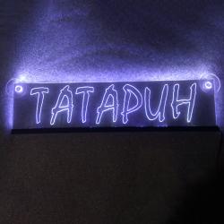 Светящаяся табличка Татарин 2D гравировка