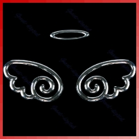 3D крылья ангела на логотип автомобиля