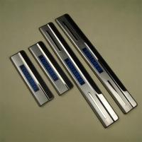 накладки на пороги с подсветкой vw touareg накладки на пороги c подсветкой