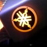 2D светящийся логотип Yamaha на мотоцикл