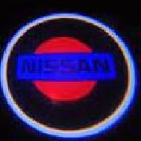 Штатная подсветка дверей NISSAN