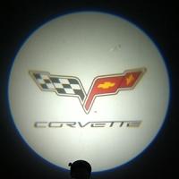 Беспроводная подсветка дверей с логотипом Corvette 5W
